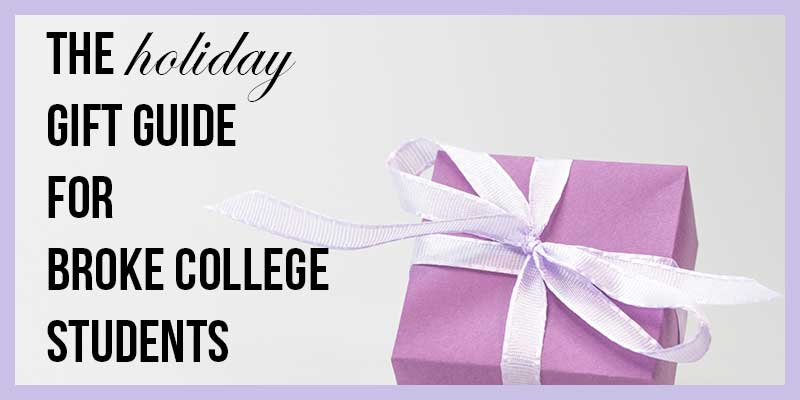 Want to know what to buy for your favorite smart and broke college student? Maybe you are the college student and want people to buy you actually useful gifts this year? Here's a tiny list of things that smart and broke college students would appreciate. Just click here to get the list!