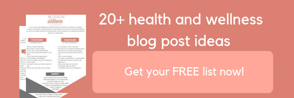 blog post ideas for health and wellness companies and organizations